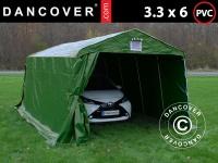 Zeltgarage Lagerzelt Garagenzelt PRO 3, 3x6x2, 4m PVC, Grün