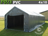 Lagerzelt PRO 4x10x2x3, 1m, PVC, Grau