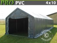 Lagerzelt Zeltgarage Lagerzelt Garagenzelt Garagenzelt PRO 4x10x2x3, 1m, PVC, Grau