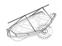 Decksgestell für Schwertboote, NoTool ECONOMY, 4m