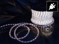 Lichtschlauch LED, 50 m, Ø1, 2 cm, Mehrfachfunktion, Kaltweiß