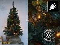 LED-Weihnachtsbaum, 1, 5m, Grün/Warmweiß