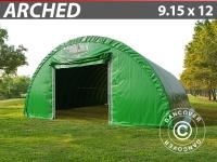 Rundbogenhalle Lagerzelt Zeltgarage Lagerzelt Garagenzelt Garagenzelt 9, 15x12x4, 5m, PVC Grün