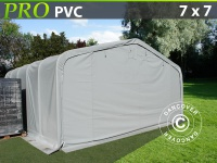 Lagerzelt PRO 7x7x3, 8m PVC, Grau