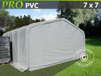Lagerzelt Zeltgarage Lagerzelt Garagenzelt Garagenzelt PRO 7x7x3, 8m PVC, Grau