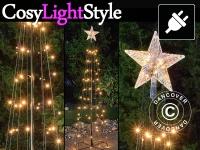 LED Lichterbaum mit Stern, 1, 8m, Multifunktionsbaum, warmweiß