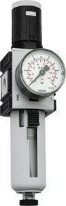 """Druckregler 1/4"""" mit Manometer von 0, 5-16 bar"""