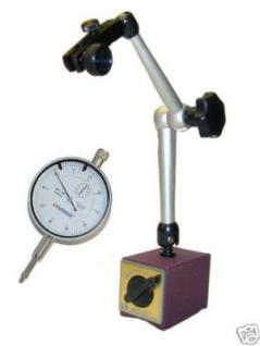 Magnetstativ mit Zentralklemmung 300 mm + Messuhr