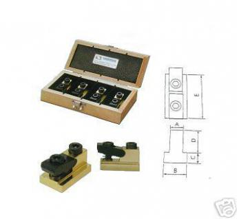 Spannpratzen Niederzug- Flachspanner für 12 mm T-Nut