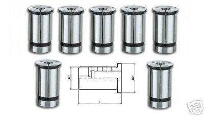 Reduzierhülsen Hydrodehnspannfutter C25 System 7 Set 4-6-8-10-12-16-20 mm