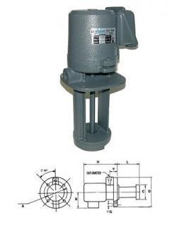 Eintauchpumpe Kühlmittelpumpe 0,25 kW Tauchtiefe 180 mm