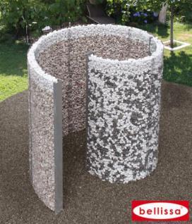 bellissa schneckendusche dusche umkleide gabione gabionen. Black Bedroom Furniture Sets. Home Design Ideas