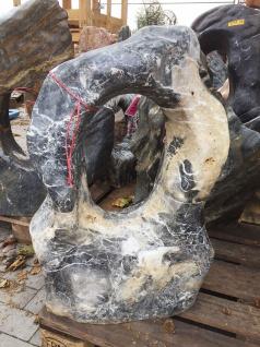 OZEANFINDLING Findling H77cm 113kg Naturstein Meeresgestein Skulptur Stein