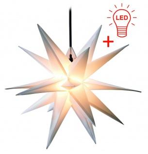 LED Außenstern WEISS XXL 3D Weihnachtsstern 100cm INKL. LEUCHTMITTEL Stern