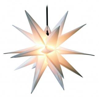 Außenstern WEISS 3D Weihnachtsstern 50-55cm Adventstern Leucht Stern außen