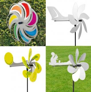 WINDSPIEL EDELSTAHL Flugzeug Jet Aero Mond Blume Sun Dancer Windrad Windmühle