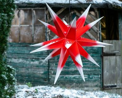 Außenstern XXL ROT WEISS 3D Weihnachtsstern 100cm Adventsstern Leuchtstern Stern