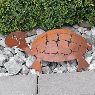 Schildkröte 3D Schildi 45cm Rost Edelrost Metall Rostfigur Gartendeko Teichdeko - Vorschau 3