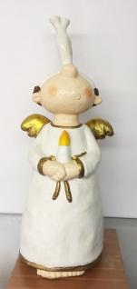 ENGEL MIT KERZE H56cm handbemalt Polyresin Dekoration Weihnachtsengel Weihnacht