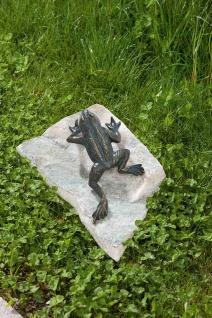 Bronzefigur Frosch Kletterfrosch 17, 5cm Rottenecker Bronze Skulptur Gartenfigur - Vorschau 2