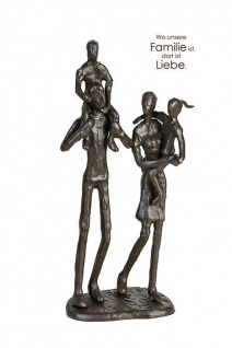 "Casablanca 74916 Design Skulptur /"" Familie /"" goldfarben Figur Liebe Liebespaar"