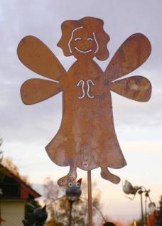 Süßer ENGEL 23x30cm Gartenstecker Weihnachtsengel Rost Edelrost Weihnachten Deko