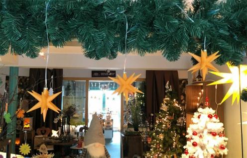 10er LED Sternenkette GELB 3D Lichterkette Stern Weihnachtsstern außen & innen