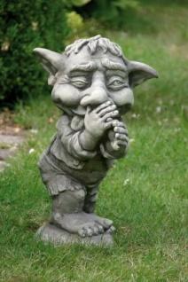 Troll Spitzbube LEN H50cm Zunge Skulptur Steinfigur Steinguss Vidroflor Kobold