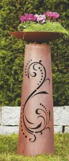 SÄULE Lichtzauber inkl. Schale zum Beleuchten Höhe 112cm Edelrost Rost Ornament