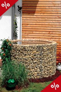 Wasserfass D130cm H80 Regenfass Hochteich Gabione Gabionen Regentonne Bellissa