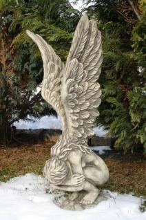 Hockende Engelfrau Rachel H70cm Engel Skulptur Steinfigur Steinguss Vidroflor
