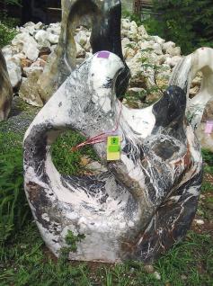 OZEANFINDLING Findling H95cm Naturstein Meeresgestein Dekostein Skulptur Stein