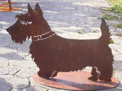 Hund Scotch Terrier 44x60cm Scotchterrier Edelrost Rost Tier Hunde