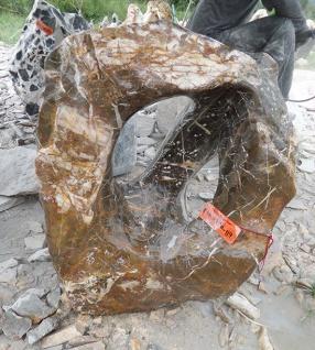 OZEANFINDLING Findling H70cm 120kg Naturstein Meeresgestein Dekostein Stein