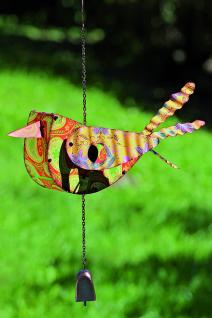 Vogelhaus Vogel 20cm zum Aufhängen Metall bunt lackiert Nistkasten Vögel witzig