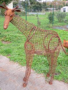 JUNGE GIRAFFE 3D lebensgroß XL 150x130cm Eisen Rost Edelrost Metall Tier Garten
