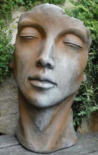 Portrait Gesicht FRAU H50cm Rosteffekt Skulptur Steinfigur Steinguss Vidroflor