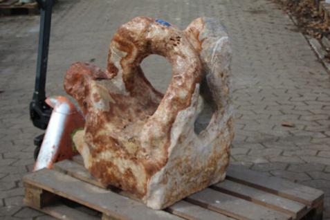 OZEANFINDLING Findling 80x80x60cm 348kg Naturstein Meeresgestein Dekostein Stein