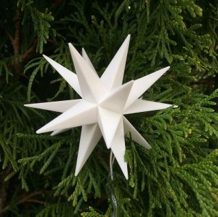 3D LED MINISTERN weiß 8 cm Batterie Timer Innen Weihnachtsstern klein Stern