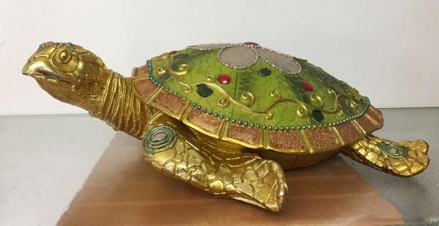 SCHILDKRÖTE INDIA L38cm Wasserschildkröte Tier Figur Skulptur Indian Style