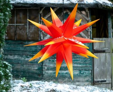 Außenstern XXL ROT GELB 3D Weihnachtsstern 100cm Adventsstern Leuchtstern Stern