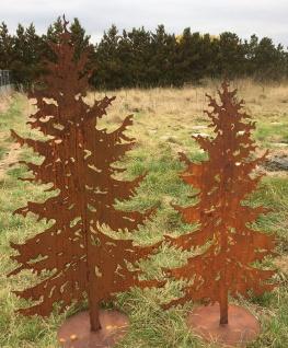 TANNE 1, 5m Gartenstecker Weihnachtsbaum Tannenbaum Christbaum Rost Edelrost - Vorschau 3