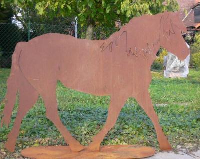 Pferd XXL 130x100cm Pony Edelrost Rost Metall Figur Rostfiguren Rostfigur Tier