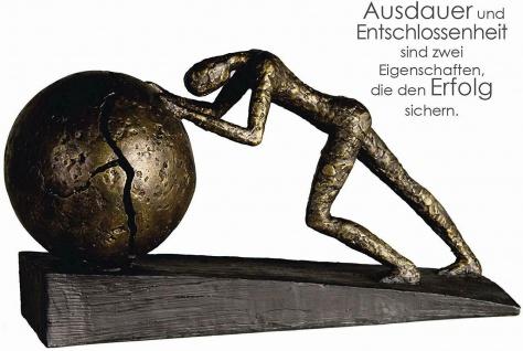 Casablanca Design Skulptur Heavy Ball L37cm bronzeoptik Erfolg Ausdauer Poly