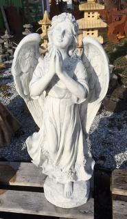 Engel betend stehend Kleid 75cm Grabengel Grabschmuck Steinguss Steinfigur