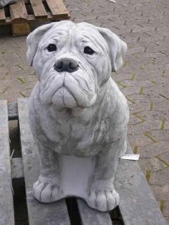 Steinfigur BULLMASTIFF lebensgroß H70cm Hund Hunde Figur Steinguss Tiere