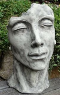 Portrait Gesicht MANN H53cm Skulptur Steinfigur Englischer Steinguss Vidroflor