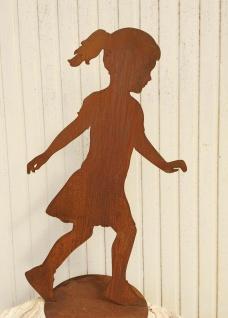 Laufendes MÄDCHEN Antonia 115cm Rost Figur Edelrost Menschen Kind Metall Mädel