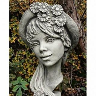 Büste Lady Calendula 40cm Kopf Frau Skulptur Frauenbüste Steinfigur Steinguss