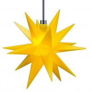 3D LED MINI STERN gelb Ø 12 cm für Außen 18 Zacken Weihnachtsstern Batterie